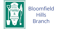 Woman's National Farm and Garden Bloomfield logo