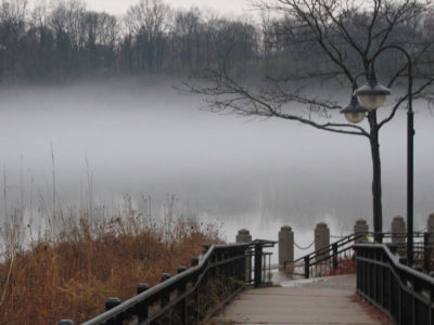 fog on Newburgh Lake by N Gregor