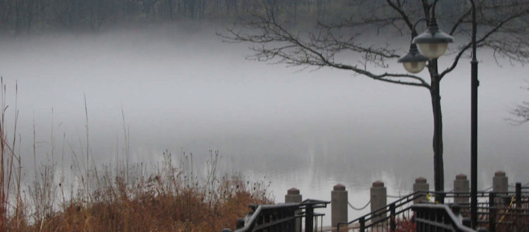 fog on Newburgh Lake by N Gregor