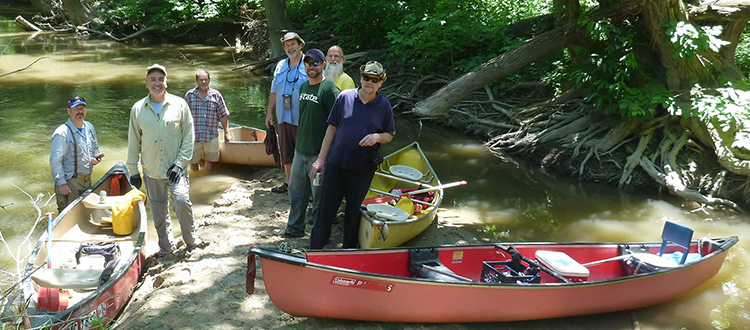 Water Trail Explorers with their canoes