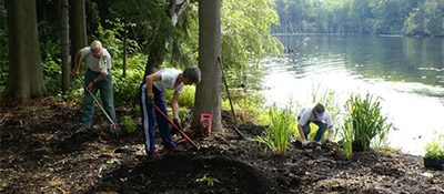 River Restoration work being done in the Rouge River