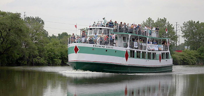 Photo of the cruise boat on the Rouge River for the 2017 Rouge Cruise