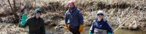 Bug Hunt Trainings - volunteers in the waterway