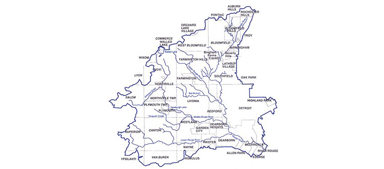 Monitoring Sites Watershed map