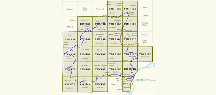 Rouge River Michigan Map.Survey Blocks Friends Of The Rouge