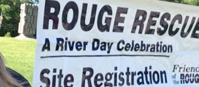 Banner from a Rouge Rescue River Day Celebration