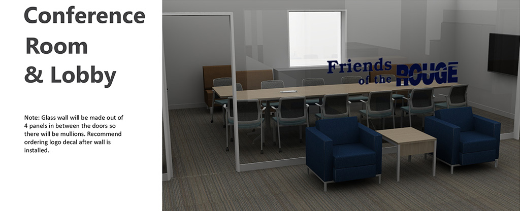 PARC Office rendering - Conference Room and Lobby