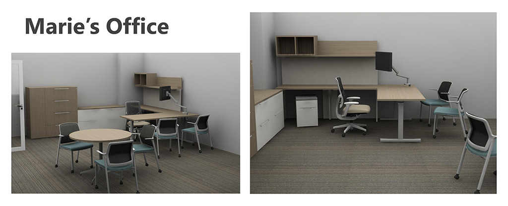 PARC Office rendering - Marie's Office
