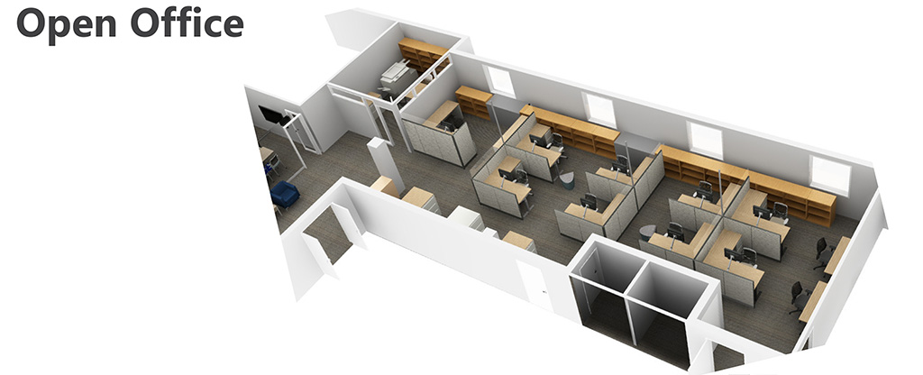 PARC Office rendering - Open Office