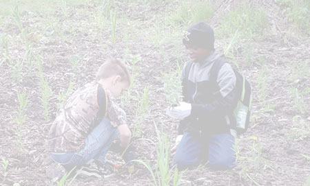 Kids planting for the sake of the Rouge River's restoration (faded)