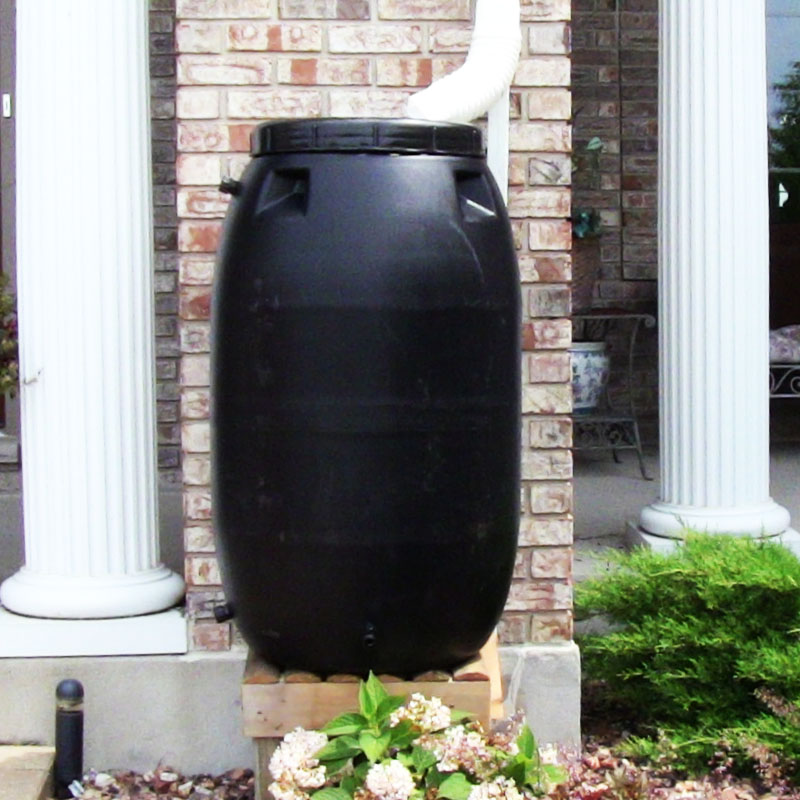 55 Gallon Rain Barrels (Black)