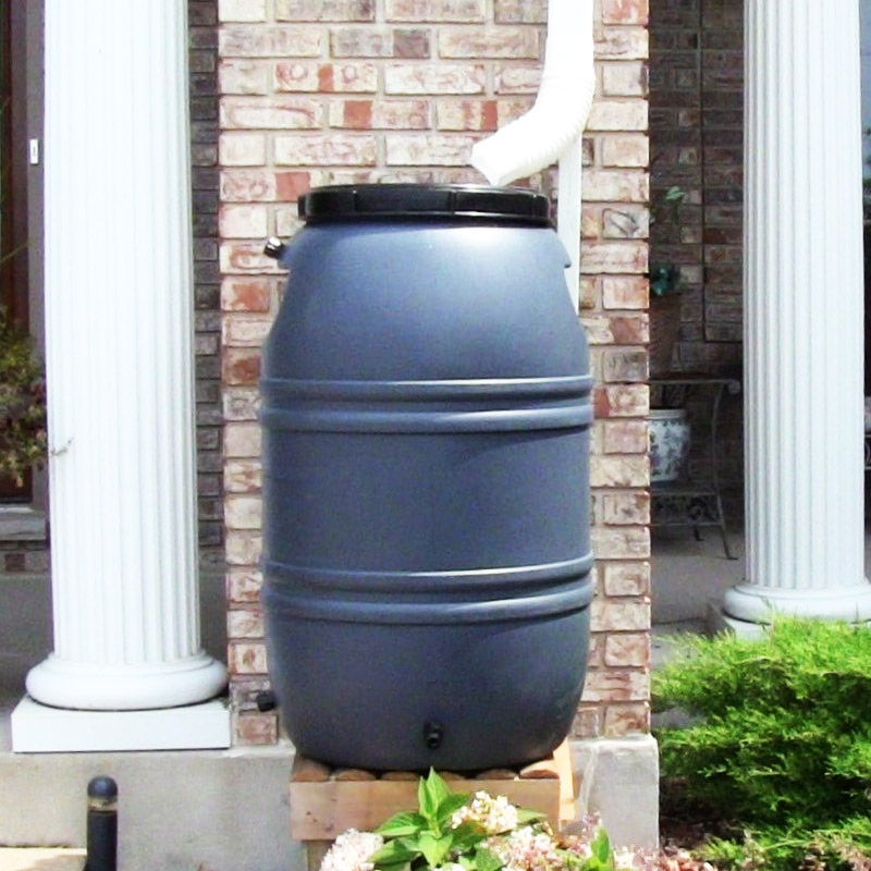55 Gallon Rain Barrels (Grey)