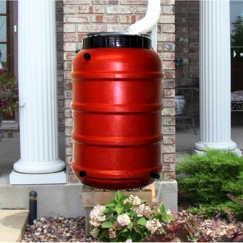 Terra Cotta Rain Barrel (50 and 55 Gallon Options)