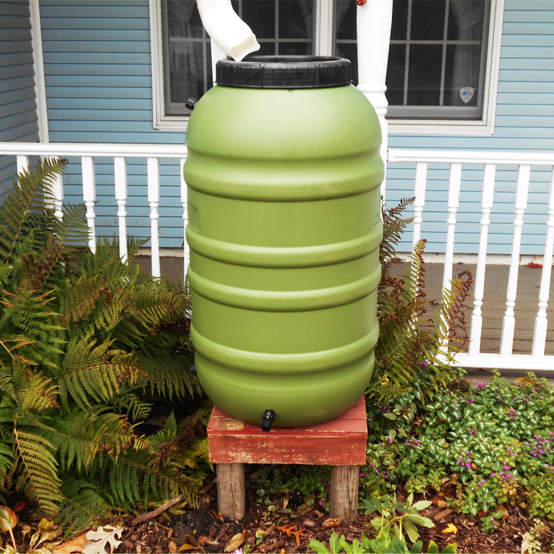 Rain Barrel Pedestal, Upcycled Wood
