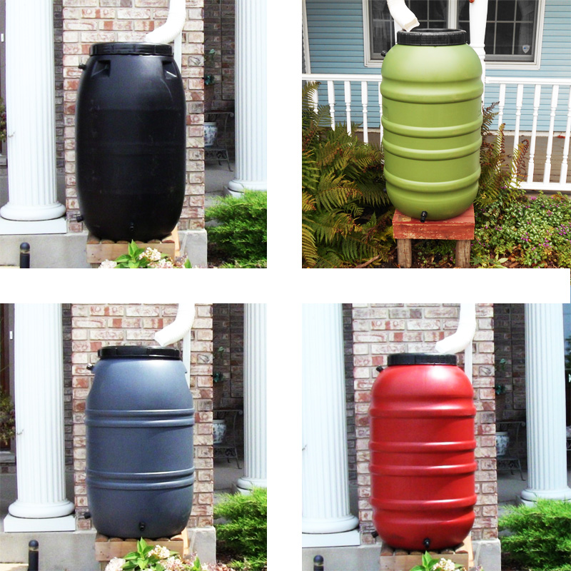 55 Gallon Rain Barrels (Multiple Colors)