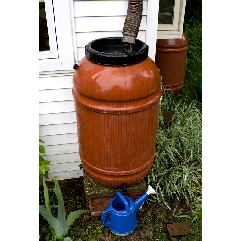 UPCYCLE Red Rain Barrel (50 and 55 Gallon Options)