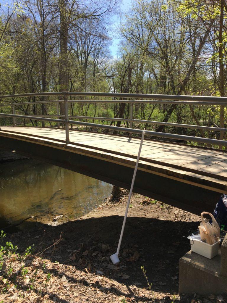 Bridge with sampling equipment
