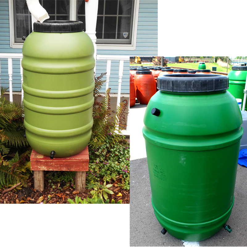 UPCYCLE 55 Gallon Rain Barrels (Green)