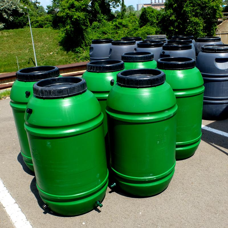 UPCYCLE 55 Gallon Rain Barrels (Green)