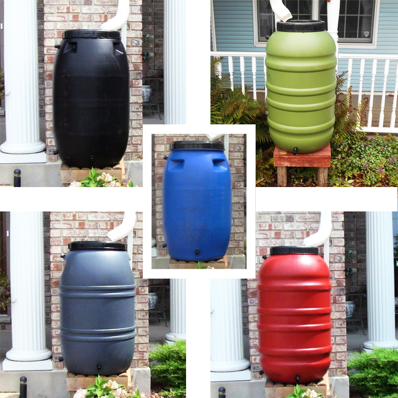 UPCYCLE 55 Gallon Rain Barrels (Multiple Colors)