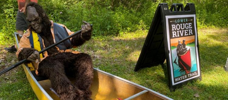 Bigfoot paddle on water trail
