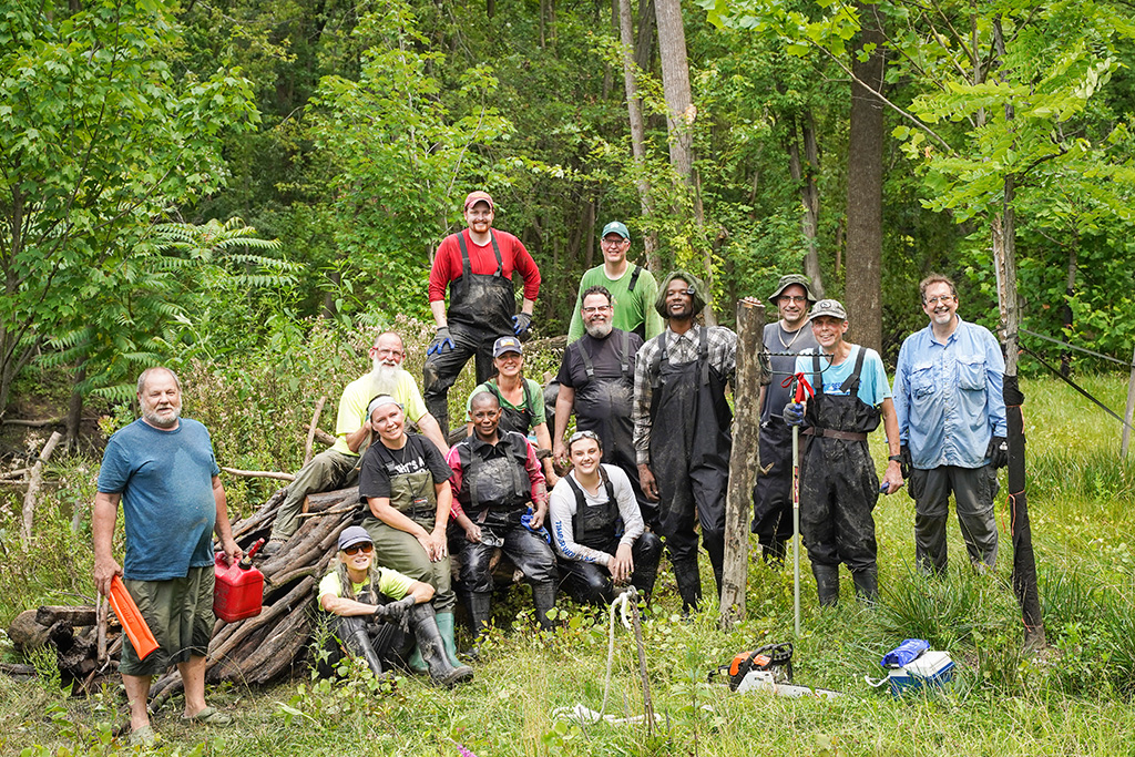 Log Jam Day 072421 Group Photo of the Volunteers