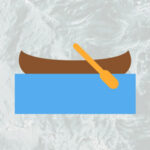 canoe on the river graphic