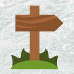 wooden trail sign graphic